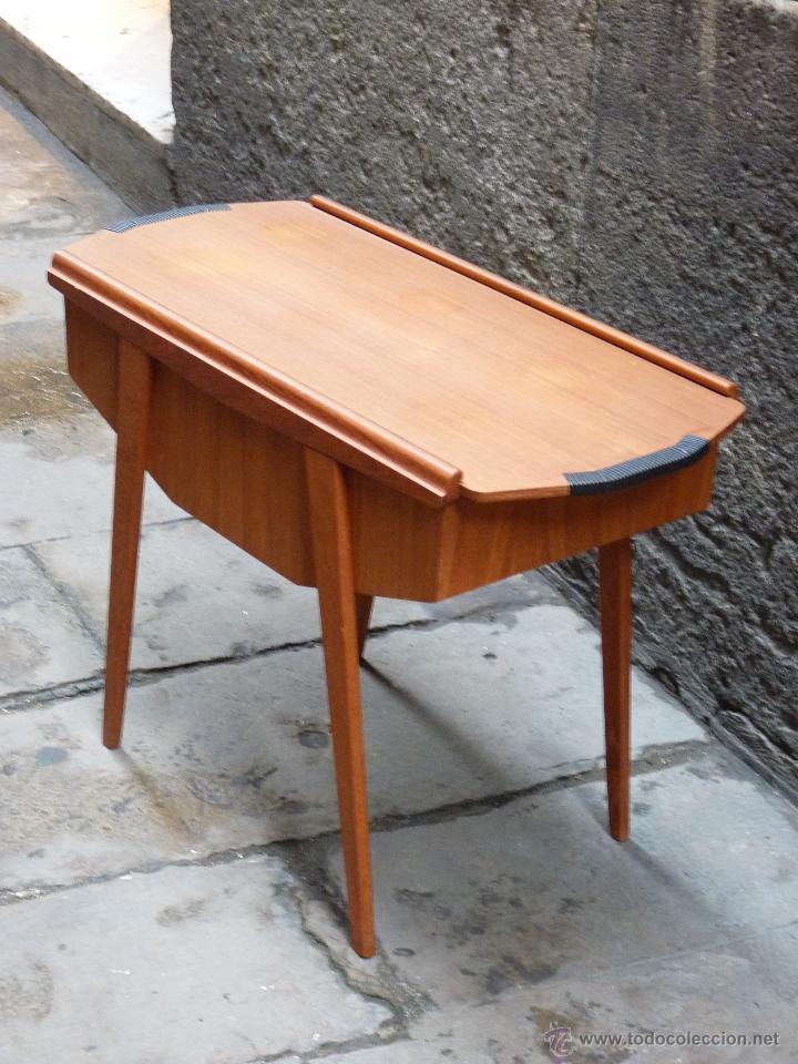 Mueble de costura dan s en teca de mediados de comprar for Mueble organizador de costura