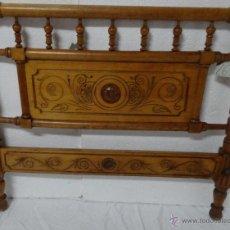 Vintage: CABECERO EN MADERA DE CEREZO, 6000 -263. Lote 43780888