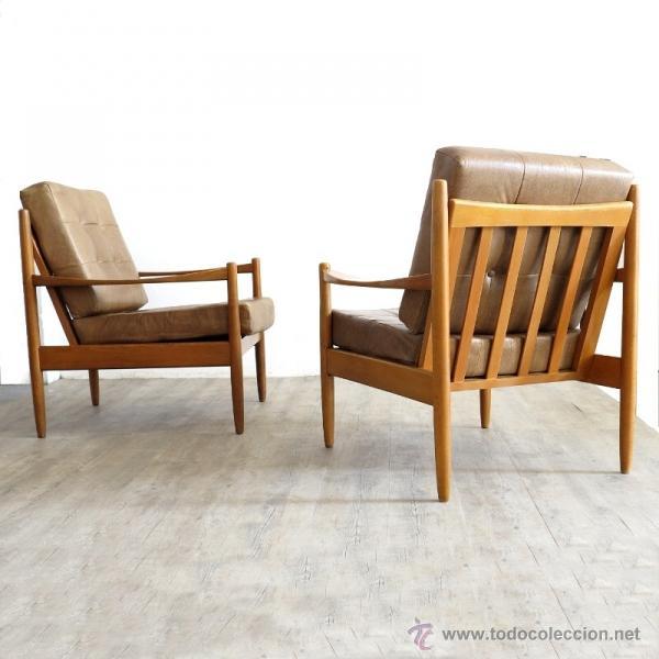 Knoll pareja de sillas con brazos sillones b comprar for Sillones de estilo