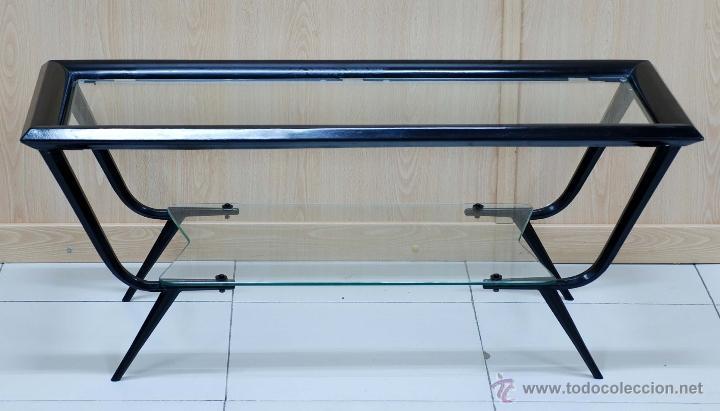 Mesa centro metal lacado negro y cristal dise o comprar for Mesa cristal 100 x 50