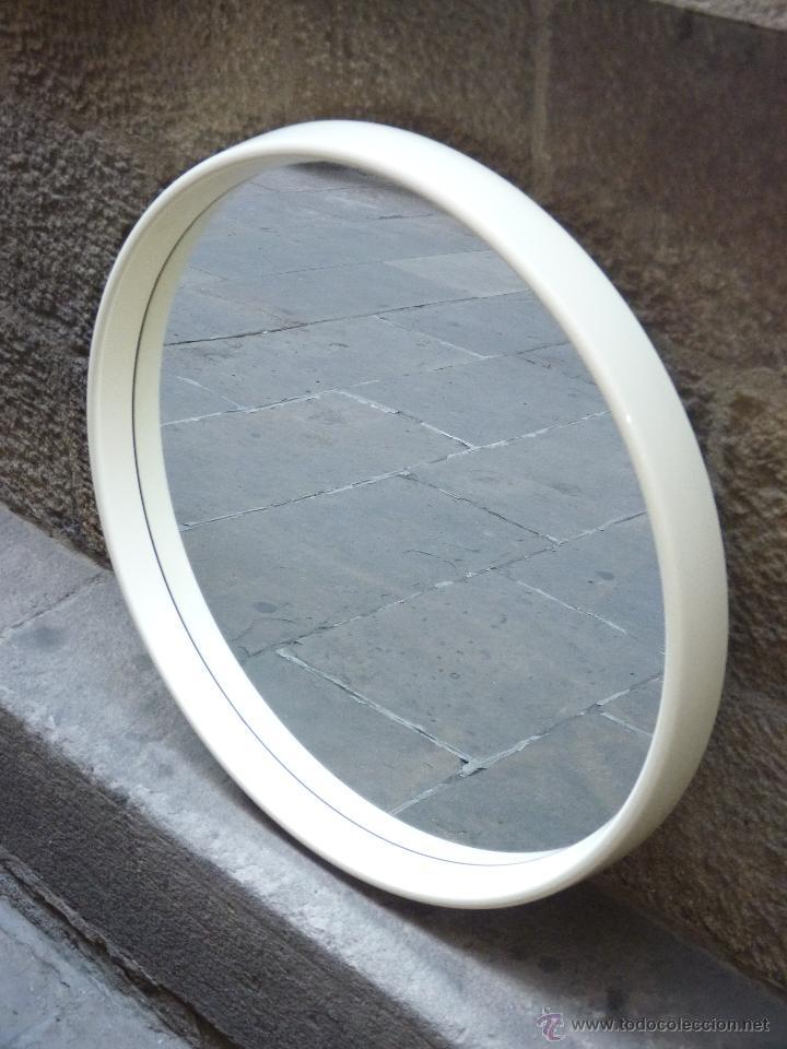 Espejo vintage con marco beiss de pl stico a o comprar muebles vintage en todocoleccion - Espejo de plastico ...