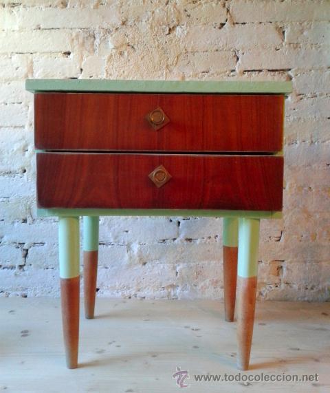 Mesita de noche estilo nordico a os 60 comprar muebles - Muebles anos 60 ...
