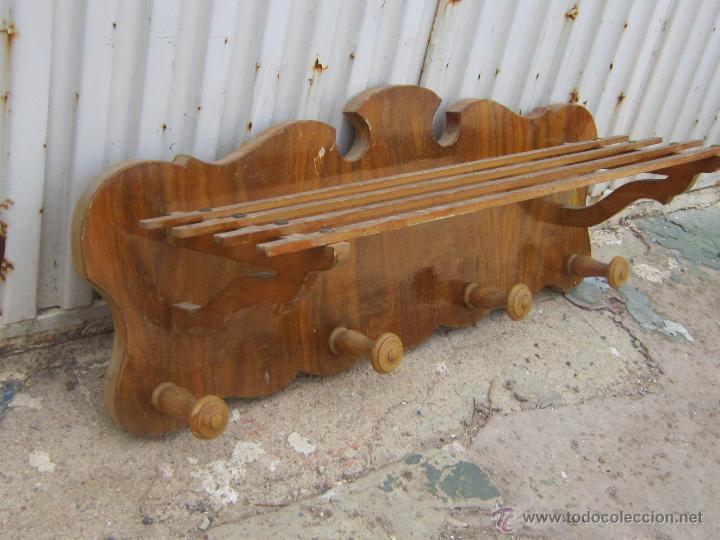 Percheros de madera de pared fabulous perchero with for Como hacer un perchero de pared