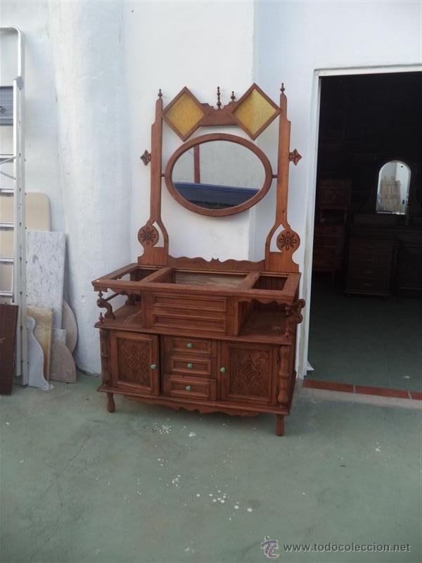 Mueble de ba o con espejo rustico comprar muebles - Muebles online vintage ...