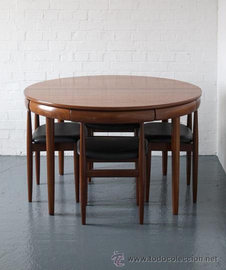 Conjunto de comedor mesa extensible y cuatro s comprar muebles vintage en todocoleccion - Comedor de cuatro sillas ...