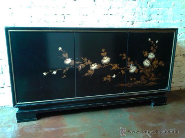 mueble lacado de estilo oriental - retro vintag - Comprar Muebles ...