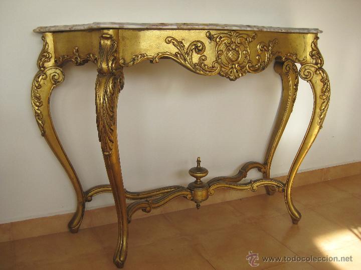 Aparador Em U Madeira ~ aparador grande mueble recibidor con espejo dor Comprar Muebles vintage en todocoleccion