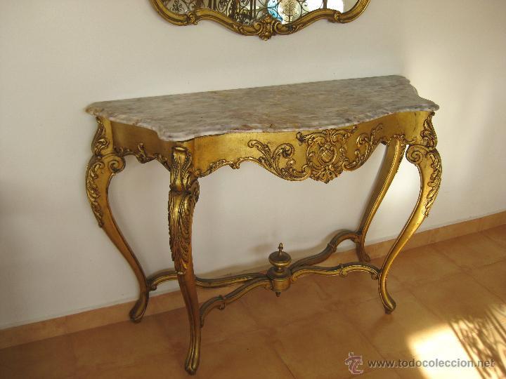 Aparador Antiguo Con Espejo ~ aparador grande mueble recibidor con espejo dor Comprar Muebles vintage en todocoleccion