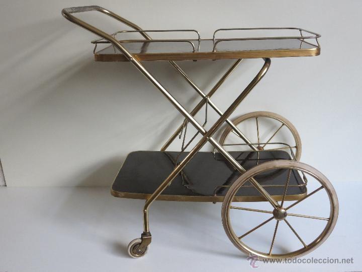 Carrito camarera de grandes ruedas comprar muebles vintage en todocoleccion 46389169 - Carrito camarera vintage ...