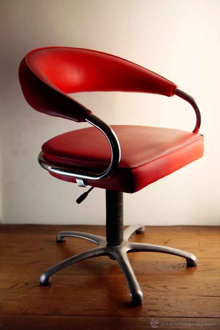 silla sillón peluquería cromado skay rojo girat - Comprar Muebles ...