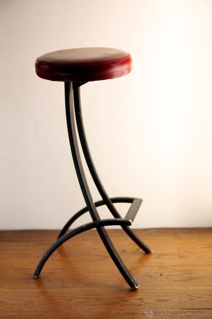 taburete negro skay rojo 70\'s vintage retro - Comprar Muebles ...