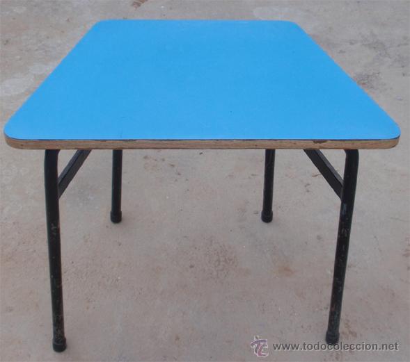 Vintage: Mesas escolares de colores. Lote de 36 mesas - Foto 3 - 46601204