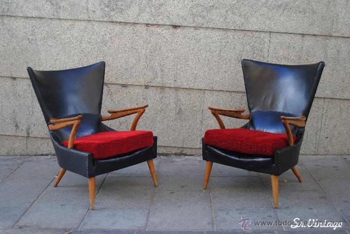 Butacas o sillones vintage a os 50 60 con dise comprar - Sillones vintage retro ...