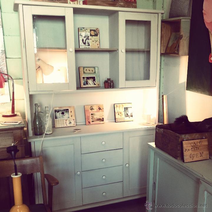 Alacena vintage restaurada para cocina o comedo comprar for Muebles para cocina comedor