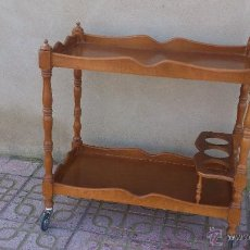 Vintage: PRECIOSA CAMARERA DE ROBLE. CON RUEDAS. ESTA RESTAURADA VER FOTOS.. Lote 47094853