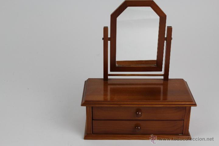 Miniatura de comoda con espejo en madera de p comprar for Espejos para comodas