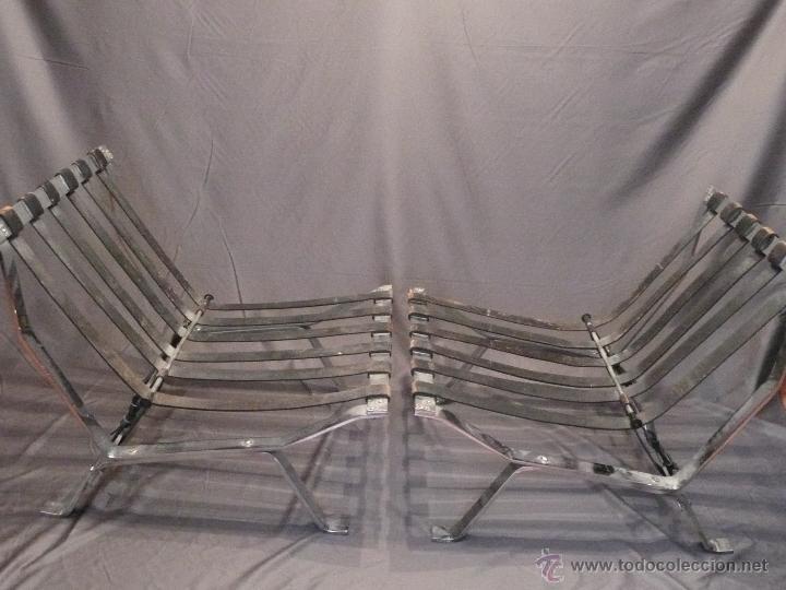 dos sillones cromados tipo arne norell vintage retro de los aos