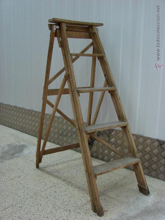 Antigua escalera de madera a os 40 comprar muebles - Escaleras de madera de segunda mano ...