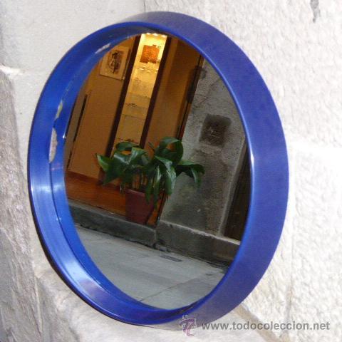 espejo vintage con marco azul de plástico, años - Comprar ... - photo#35