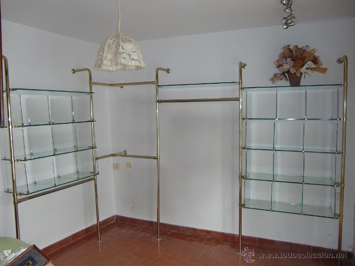 mueble estanteria pechero vintage de metal dora Comprar Muebles