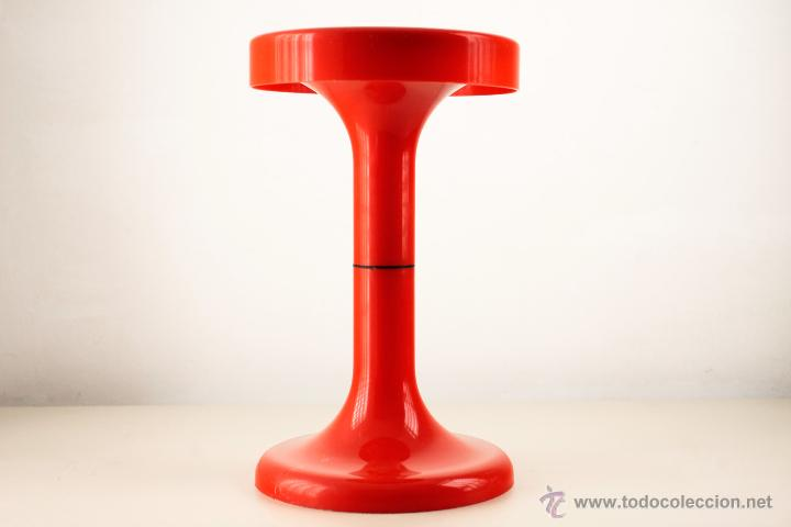 taburete plastico tulip rojo retro vintage espa - Comprar Muebles ...