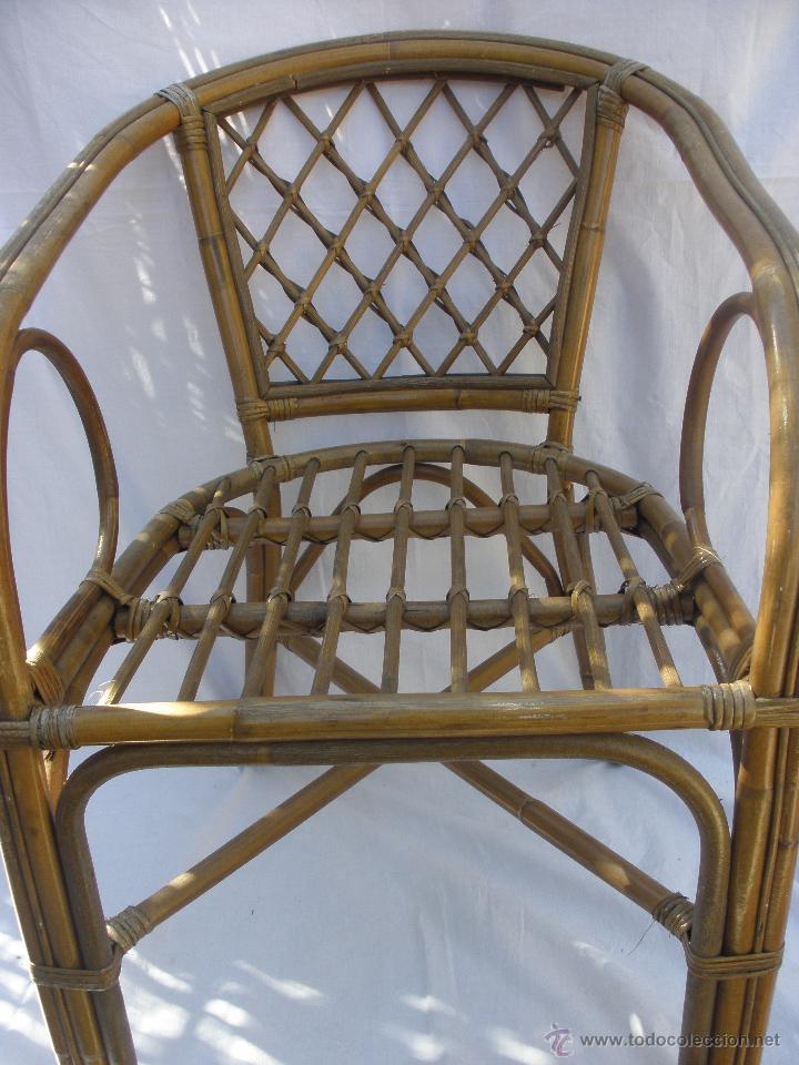 Silla mimbre bamb o butaca de ratan rattan comprar muebles vintage en todocoleccion 48194740 - Butacas de mimbre ...