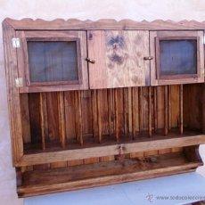 Vintage: PLATERO DE MADERA MACIZA, MUEBLE RUSTICO DE 100 CM DE ANCHO, MUE365. Lote 167071698