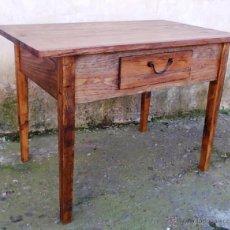 Vintage - mesa tocinera de madera maciza 100 cm de larga y 70 alta, mueble television , mue365 - 48311736