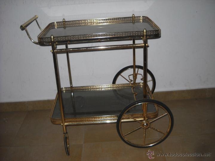 Mesa carrito camarera de hierro dorado comprar muebles vintage en todocoleccion 48345833 - Carrito camarera vintage ...