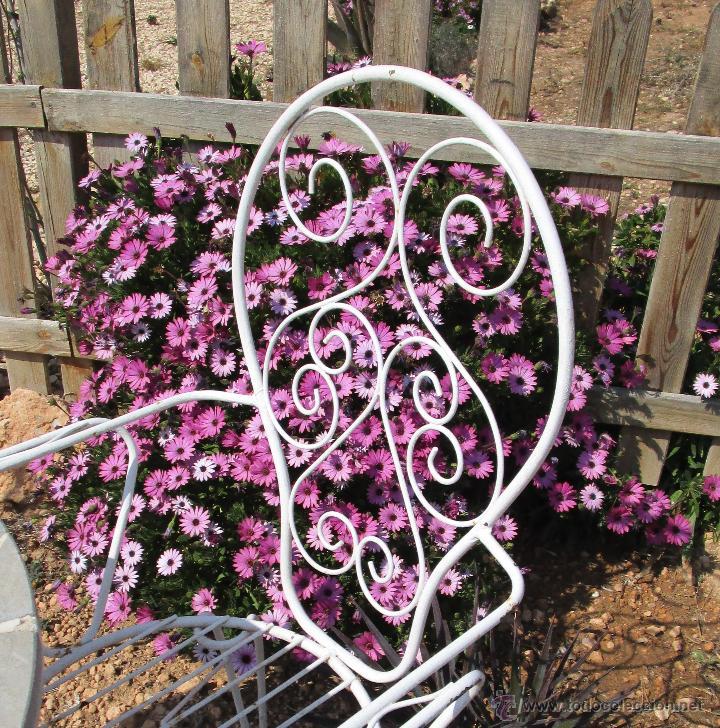 4 sillas antiguas vintage hierro ideal jardin e - Comprar Muebles ...