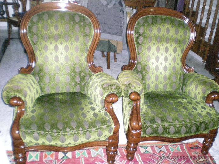 Pareja de sillones isabelinos comprar muebles vintage en for Muebles isabelinos segunda mano
