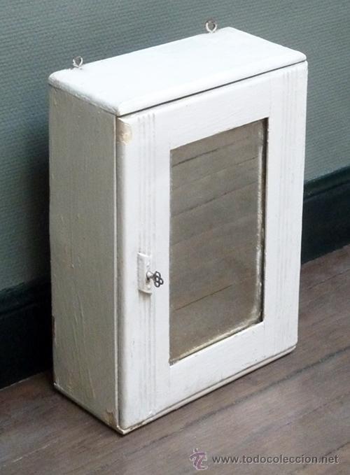 Armario con llave mueble m dico tipo botiqu n i comprar muebles vintage en todocoleccion - Botiquin antiguo ...