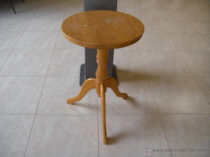 Mesa auxiliar redonda comprar muebles vintage en todocoleccion 48935363 - Mesa auxiliar redonda ...