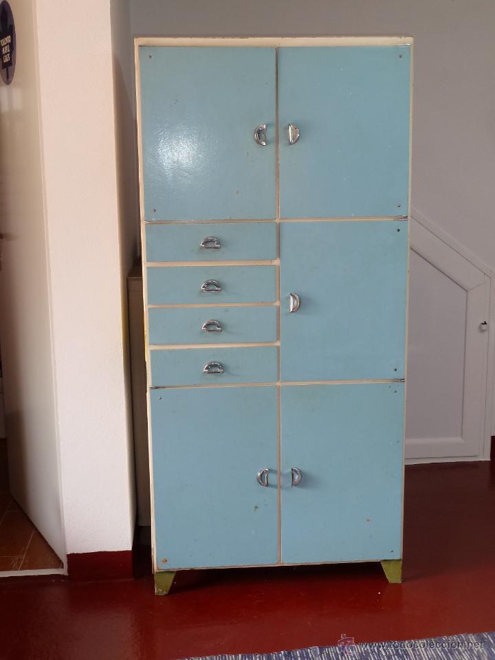 Antiguo armario despensero de cocina a os 30 comprar muebles vintage en todocoleccion 49190677 - Muebles cocina antiguos ...