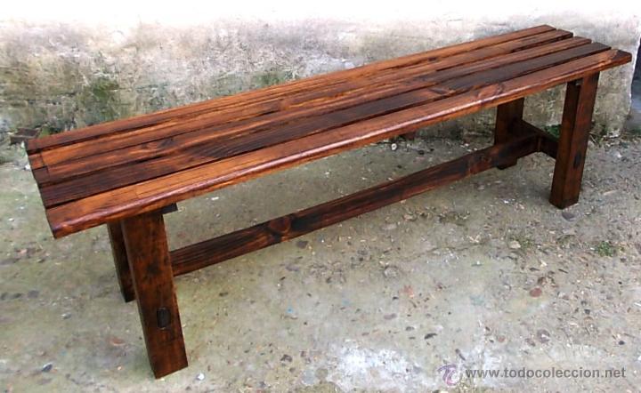 banco lamas de madera 125 cm de largo,, mueble - Comprar Muebles ...