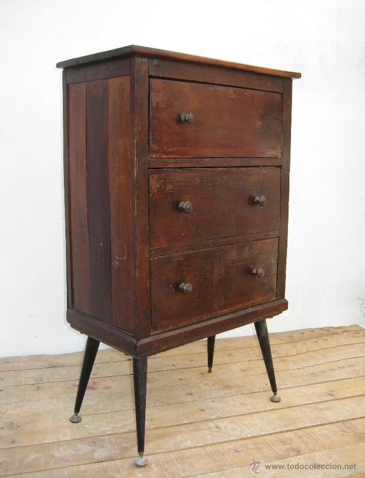 Muebles de madera y hierro herreria el vasco muebles en for Muebles vintage chile
