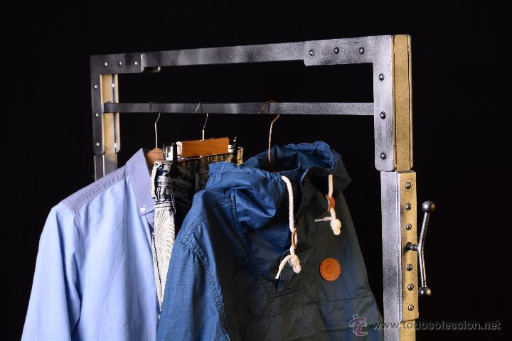Perchero estilo industrial burro ropa vintage comprar for Barra estilo industrial