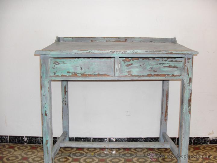Antiguo escritorio industrial de taller comprar muebles for Escritorio industrial vintage