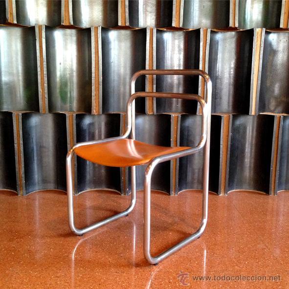Silla tubular a os 60 y 70 comprar muebles vintage en - Sillas anos 60 ...