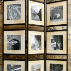 Vintage: ORIGINAL BIOMBO DE HIERRO FORJADO Y CRISTAL - FOTOGRAFÍAS - DECORACIÓN - EXPOSITOR - VINTAGE. Lote 49564352