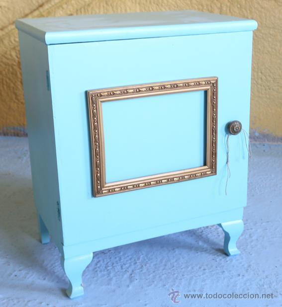 mesilla antigua restaurada. color turquesa y do - Comprar Muebles ...