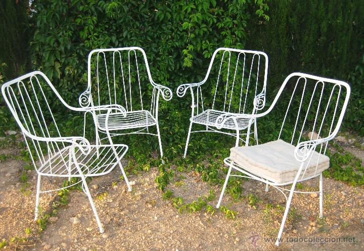 Excepcional conjunto dise o a os 60 sillas si comprar for Sillas hierro jardin