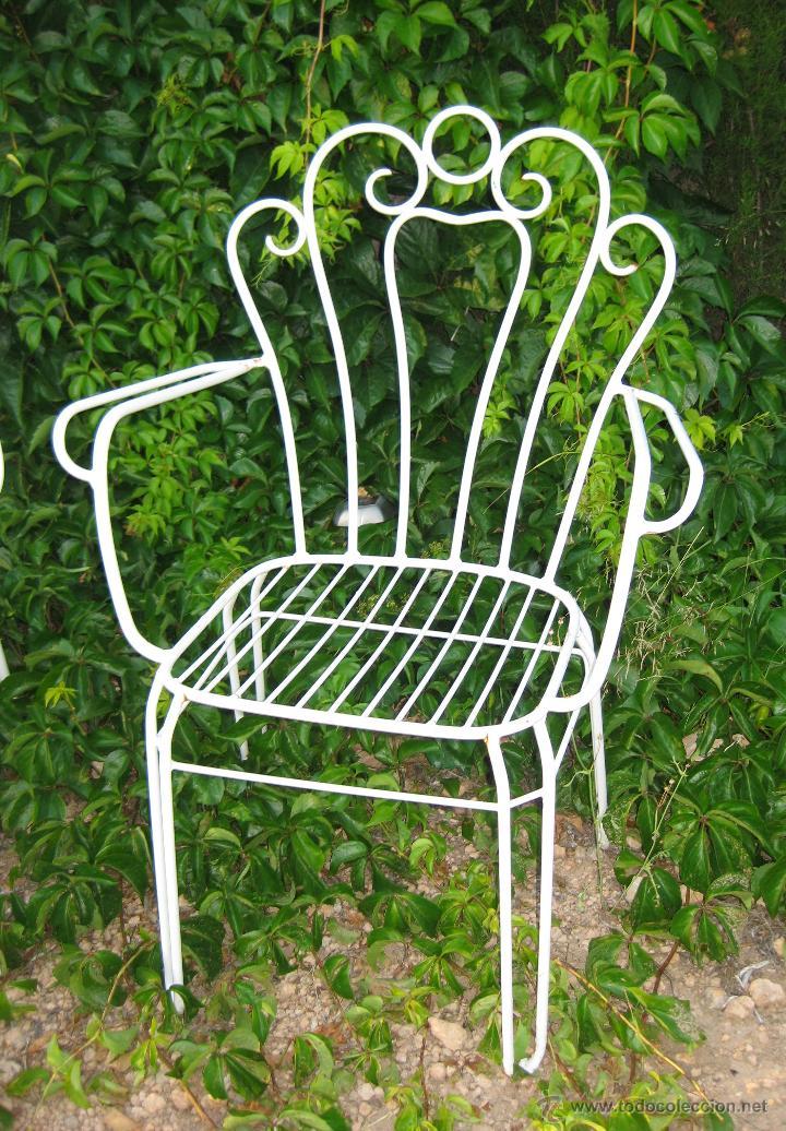 Lote de 4 sillas dise o jardin hierro miticas s comprar for Sillas hierro ikea
