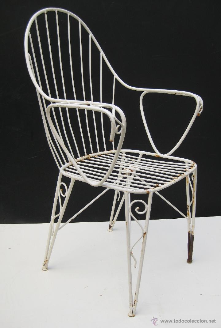 4 sillas vintage hierro forja dise o a os 60 comprar - Sillas de hierro ...