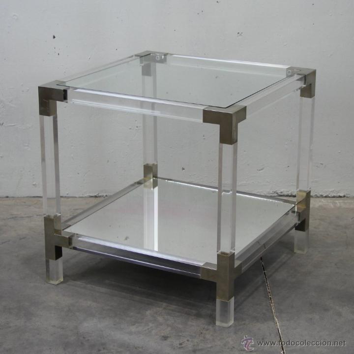 Mesa auxiliar de dise o en metacrilato metal n comprar for Mesas auxiliares de diseno