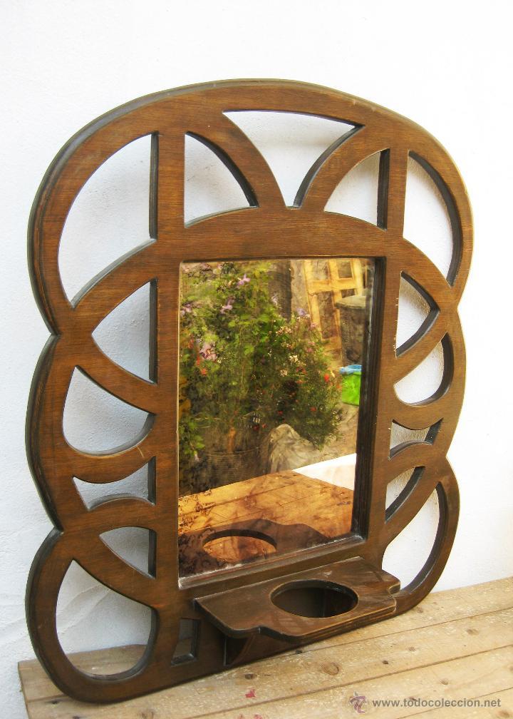 gran espejo madera vintage cristal ahumado tipo - Comprar Muebles ...