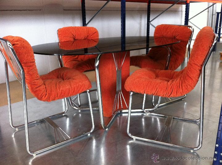conjunto mesa comedor años 1960 con sillas orig - Kaufen Vintage ...