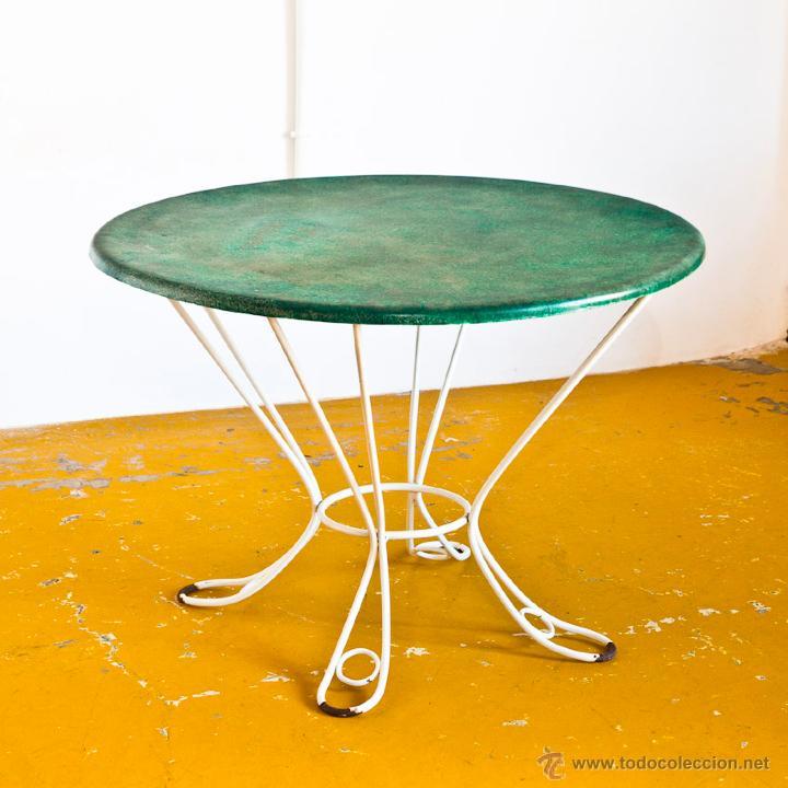 mesa exterior - hierro forjado y fibra de vidri - Comprar Muebles ...