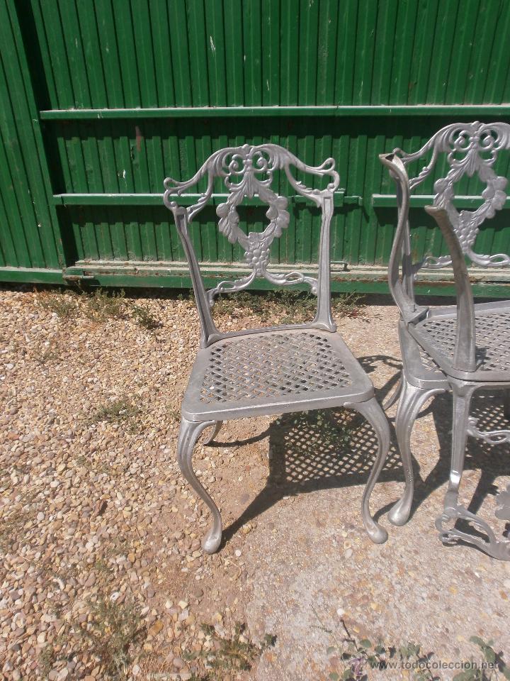 sillas de jardin en aluminio fundido color gris - Comprar Muebles ...