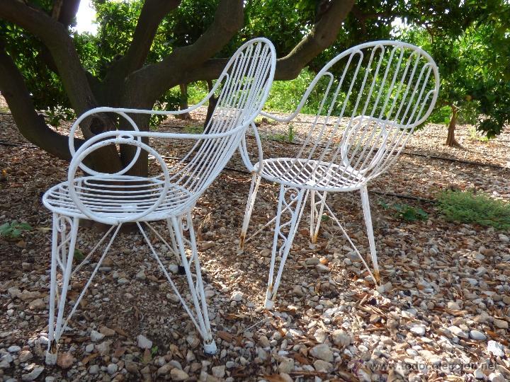 silla, lote de 2 sillas de jardin , metal , ori - Comprar Muebles ...